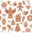 a christmas cookies seamless pattern xmas vector image