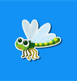 a dragonfly character sticker vector image vector image
