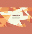 abstract desing background color orange vector image vector image