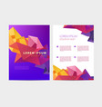 abstract flyer brochure annual report vector image