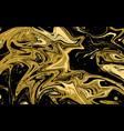 abstract liquid texture golden marble background vector image vector image