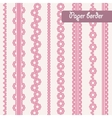 Baby shower set of border for girl vector image