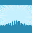big city comic cartoon style background vector image vector image