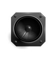 black speaker vector image