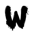 blot letter w black and white vector image
