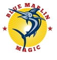 Blue marlin magic vector image vector image