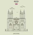 bristol cathedral in bristol vector image vector image