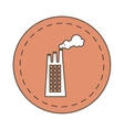 build plant factory pollution icon vector image vector image