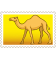 Camel stamp vector image vector image