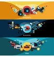 Camera Banners Set vector image vector image