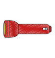 camping flashlight isolated vector image