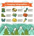 Camping Infographics Sketch vector image vector image