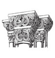 capital from gernnrode vintage engraving vector image vector image