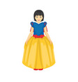 cartoon of girl wearing the princess dress vector image vector image