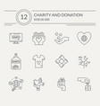 charity icon collection vector image vector image