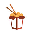 chinese food with chopstick vector image