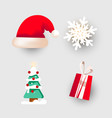 christmas dabor for decorating banners postcards vector image