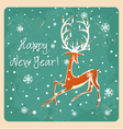 Christmas deer Vintage seamless Greeting card vector image