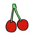comic cartoon cherries vector image vector image