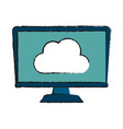 computer with blank screen icon image vector image vector image