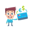 Currency conversion in the online bank vector image vector image