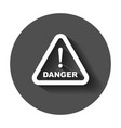 danger sign icon attention caution business vector image vector image