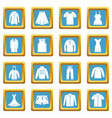 different clothes icons azure vector image vector image