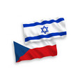 flags czech republic and israel on a white vector image vector image