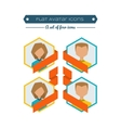Flat Avatars vector image vector image