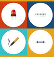 flat icon electronics set of memory resistor vector image vector image