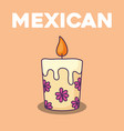 floral candle design vector image vector image