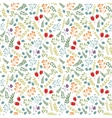Floral colorful seamless pattern with vector image vector image