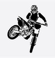 freestyle motocross design vector image