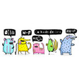 funny animals set vector image vector image