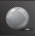 glass ball 3d realistic transparent background vector image vector image