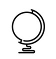 globe line icon outline vector image