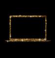 golden glitter gold color flat laptop computer vector image vector image