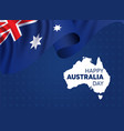 happy australia day greeting card vector image
