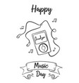 happy music day collection style vector image vector image