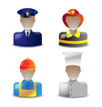 Icons occupations vector image