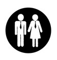 man and lady people icon vector image