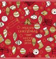 merry christmas creative handdrown seamless vector image vector image