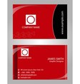 Modern business card - red and black colors vector image vector image