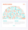 multiple sclerosis concept in half circle vector image vector image
