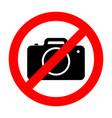 no photo camera sign vector image vector image