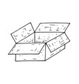 open box hand drawn doodle vector image vector image
