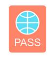passport icon simple minimal 96x96 pictogram vector image vector image