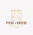 piece cheese abstract sign symbol or logo vector image vector image