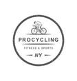 procycling shop logotype vector image vector image