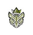 queen of cats green vector image